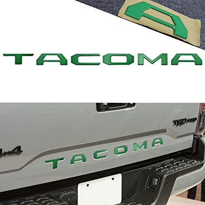 YaaGoo For Tailgate Letter Fit 2015 2016 2020 2020 Toyota TACOMA,Insert Hard Plastic Sticker,Matte Green (Green): Automotive