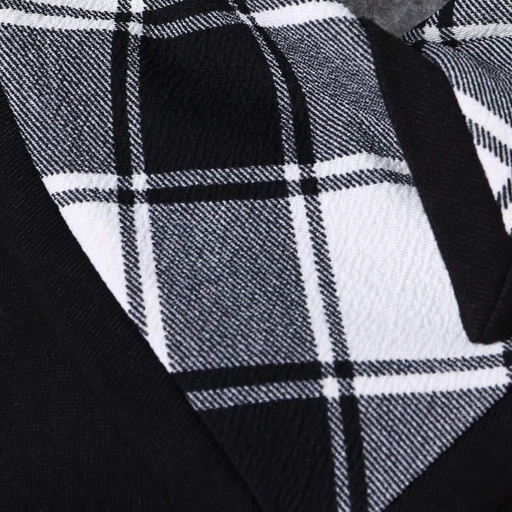 FORUU Womens Cowl Neck Plaid Drawstring Button Hoodie Sweatshirt Tunic Dress