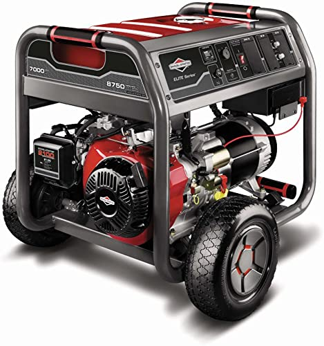 Briggs Stratton 30470 7000-Watt Gas Powered Portable Generator with 2100 Series 420cc Engine and Key Electric Start, Engine Oil Included Discontinued by Manufacturer