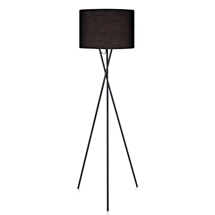 Amazon versanora cara tripod floor lamp with black shade versanora cara tripod floor lamp with black shade aloadofball Choice Image