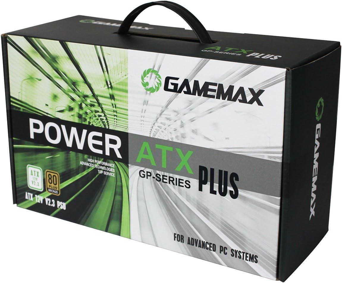 Game Max GP-400A Fuente de alimentaci/ón Color Negro