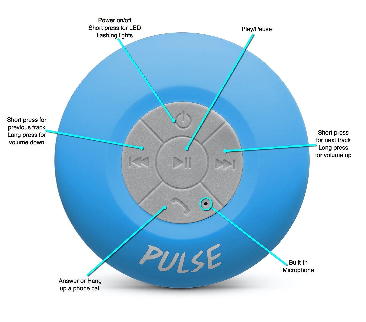 Rings once then beeps 3 times then hangs up - Amazon Com Csj Pulse Wireless Waterproof Bluetooth 4 0 Shower Speaker Blue Electronics