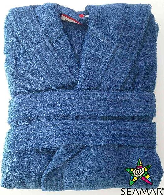 Seimar Albornoz de Microfibra Rizo para Hombre y Mujer con Capucha de algodón: Amazon.es: Hogar