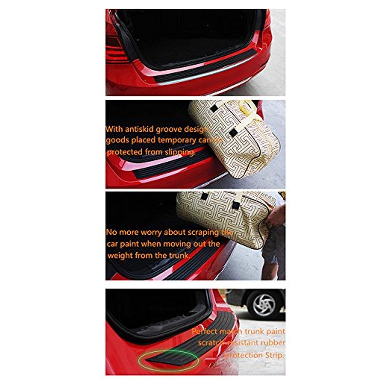 Ruesious 35,8 pollici Universale in gomma nera durevole protezione paraurti protettore copertura Trim per camion pickup SUV auto