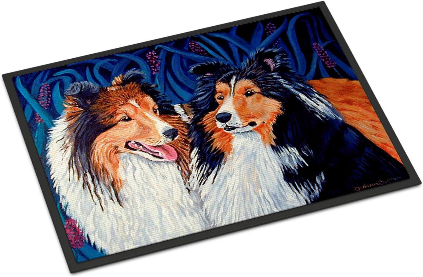 Caroline's Treasures 7508MAT Sheltie Indoor Outdoor Mat 18x27 Doormat, 18H X 27W, Multicolor