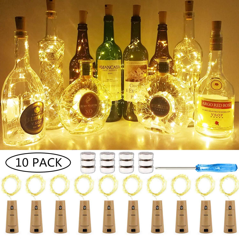10 x 20 LEDs Guirnaldas luminosas Blanco cálido,SiFar 2M Lámparas ...