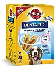 Pedigree Dentastix de uso diario para higiene oral para perros medianos - Pack de 4 x 28 sticks - Total: 112 sticks