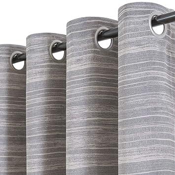 Amazon.com: Cortinas grises granuladas para dormitorio ...