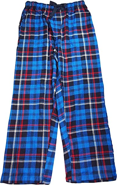 IZOD Mens Plaid Lightweight Pajama Pants Blue