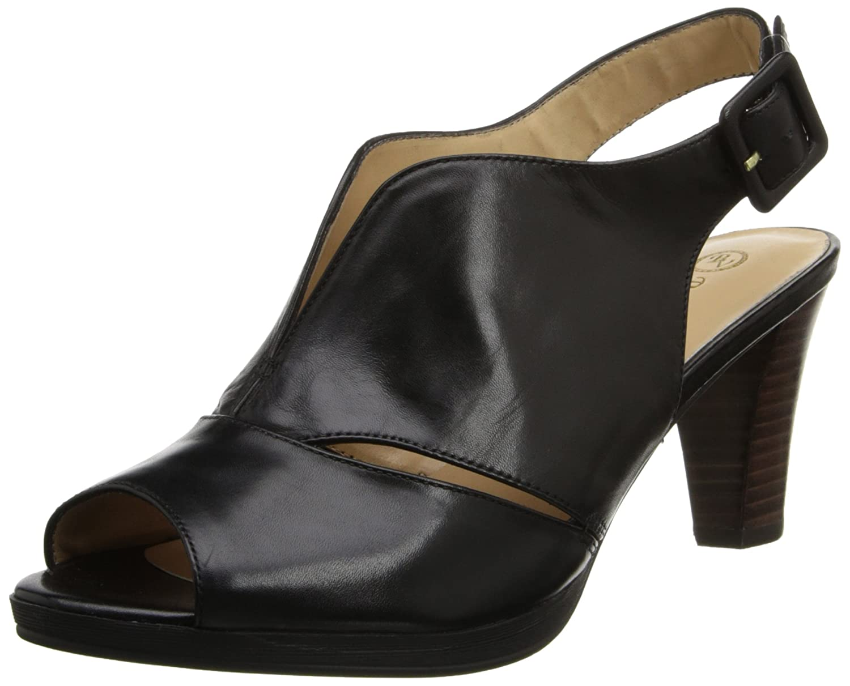 Bella Vita Women's Leona Platform Sandal B00LCRF1LS 7 XW US Black