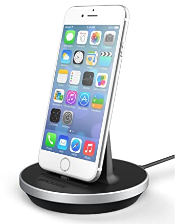 the latest 6a363 2f1d5 Encased iPhone Desktop Charging Dock (Case Compatible) Height Adjustable  Mount (Apple MFI Lightning Charger) Aluminum/Black (Apple iPhone 7 Plus)