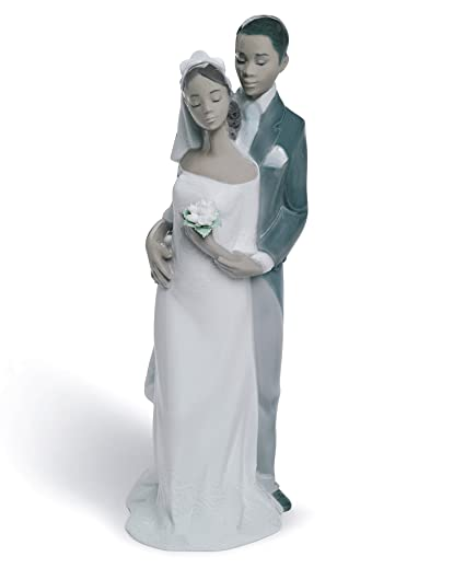 Amazon.com: Lladro Forever Yours Porcelain Figurine/Cake Topper ...