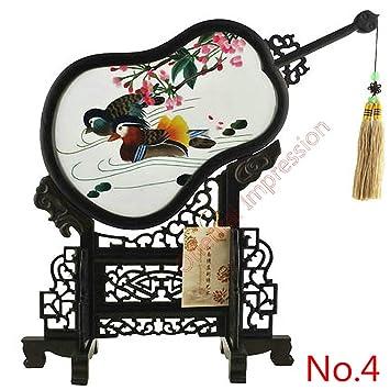 Mesa de escritorio hecha a mano de doble cara bordada china ...