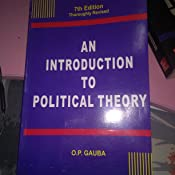 An Introduction To Political Theory By Op Gauba Pdf