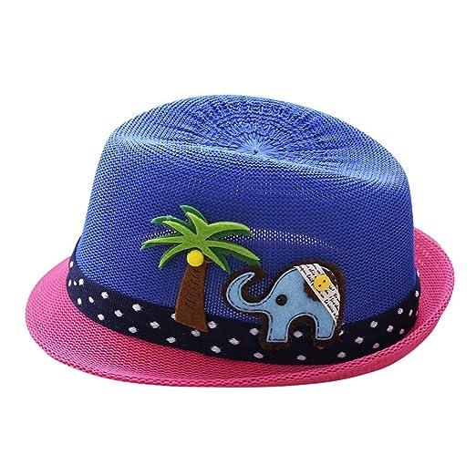 55ef1d8dd63 Weiyun Baby Summer Top Hat with Elephant Print Kid Breathable Hats Boys  Girls Children Sun Caps
