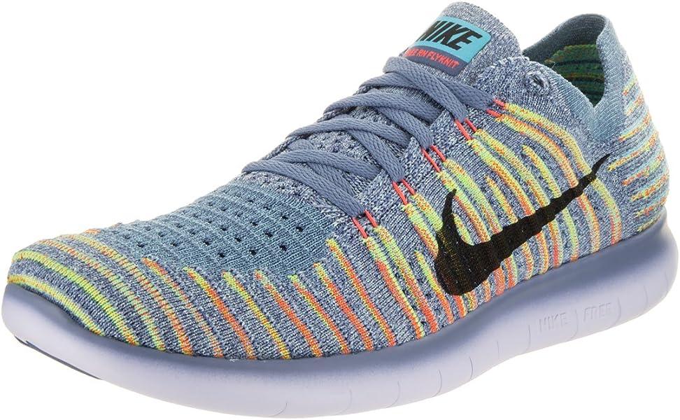 3d4eaf720b9a Nike Womens Free Rn Flyknit OceanFog Black Bright Mango Running Shoe 10  Women ...
