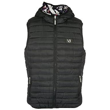 Versace Jeans Gilet sans Manches Homme en Nylon boublure réversible Noir EU  48 (UK 38 7fbb40e62ef