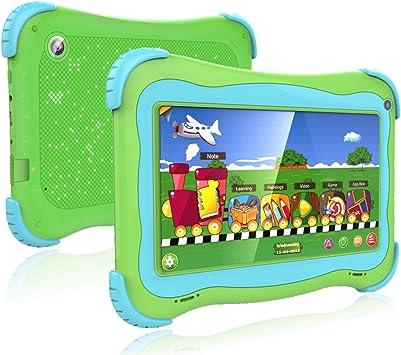 Tablet De 7 Para Niños Con Android Wifi Y Doble Cámara 1 Gb De Ram 16 Gb De Rom Control Parental Google Play Store Verde Computers Accessories
