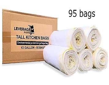 Amazon.com: Bolsas de basura: 13 galones grandes con cordón ...