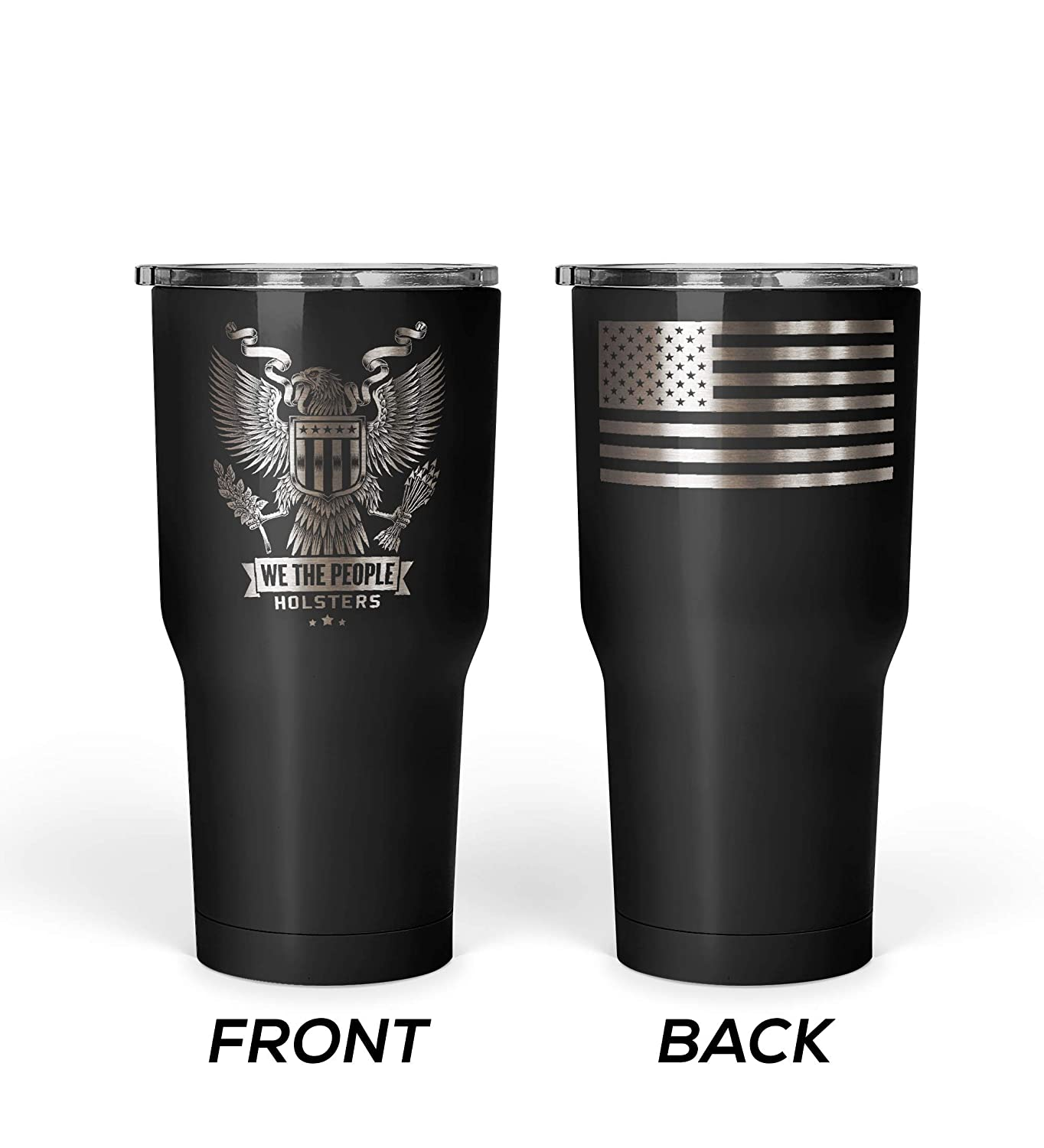 People We The Steel Travel Mug Stainless Insulated Flag With Oz Patriotic American Usa Emblem Coffee Eagle Tumbler 30 67ybfg