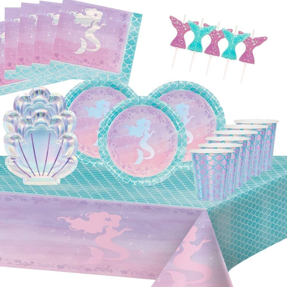 Pour Filles Enfants Anniversaire 20 Arielle Serviettes