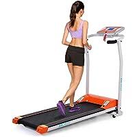 Mini Tapis Roulant Pliable Eléctrique Tapis Course Chambre/Bureau Appareil de fitness Orange/Blanc /Noir 0.8-10km/h