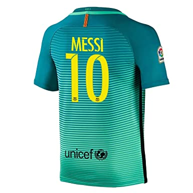 1c34e1dadfc Beermiaud Mens FC Barcelona  10 Messi Away Soccer Jersey Sizes Green  (Medium)