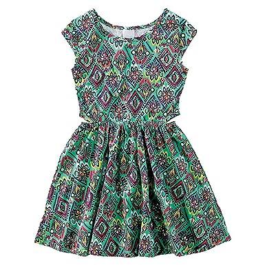 8392282235 Vestido Infantil Feminino Malwee Estampado Cor  Verde - Tam.  06 ...