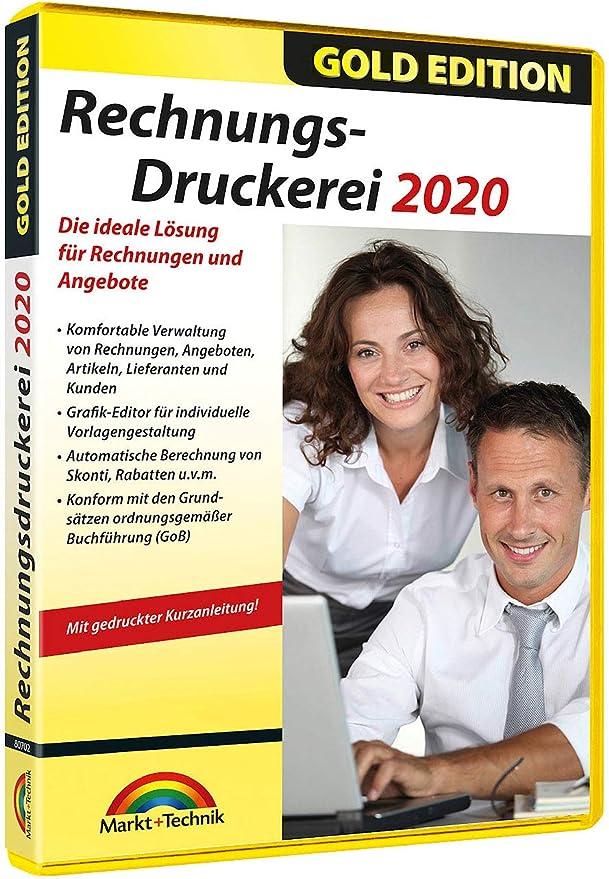 Markt Technik Rechnungsdruckerei 2020 Gold Edition Vollversion Amazon De Software