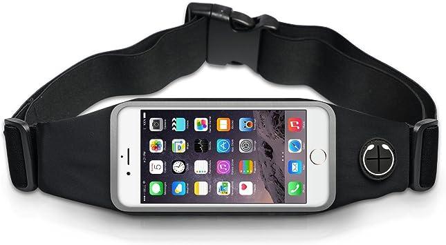 QUMAXXX - Riñonera Deportiva, Color Negro, Impermeable, para Correr, Bolsa elástica para el móvil, para Hombre y Mujer: Amazon.es: Deportes y aire libre
