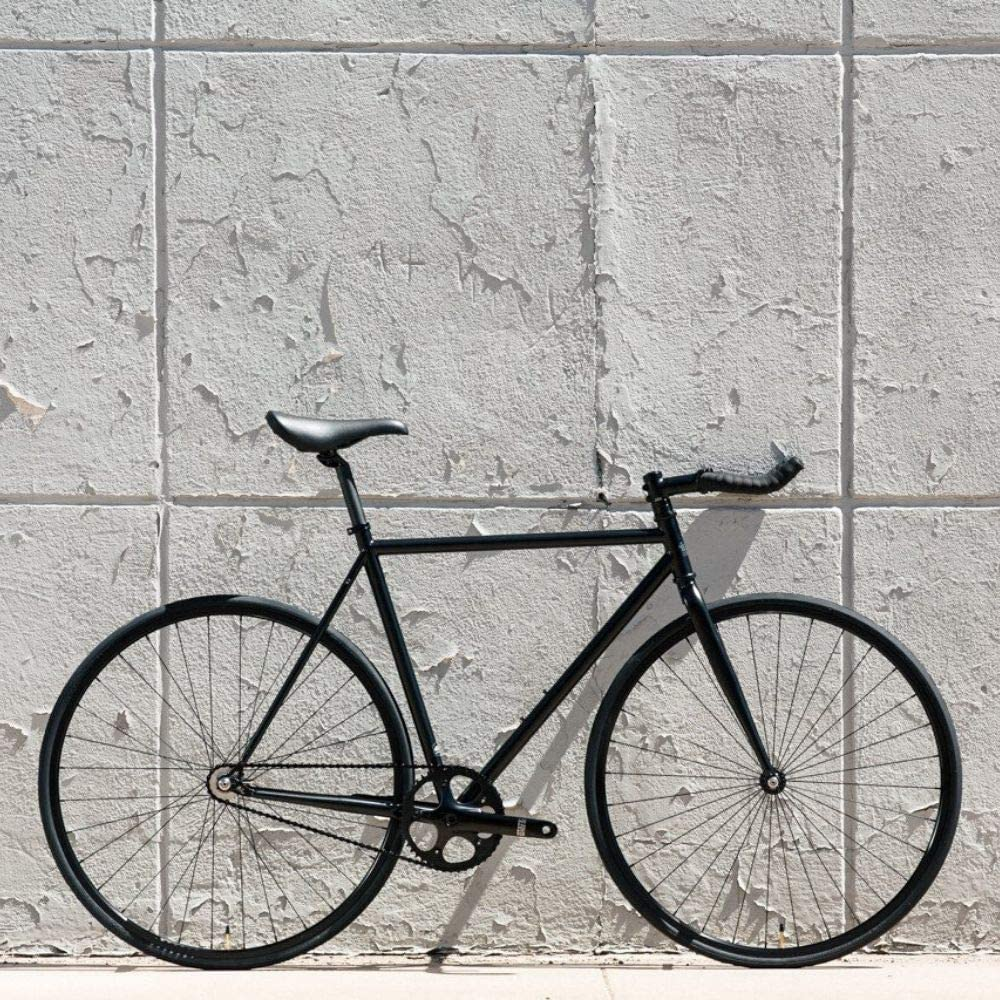 State Bicycle 4130 Double Butted Grade Chromoly Steel Fixed Gear//Single Speed 52cm Drop Bar The Matte Black