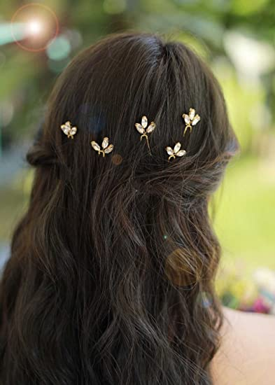 Yean Bridal Hair Clips Vingate Star Hair Pins 5 Packs Wedding