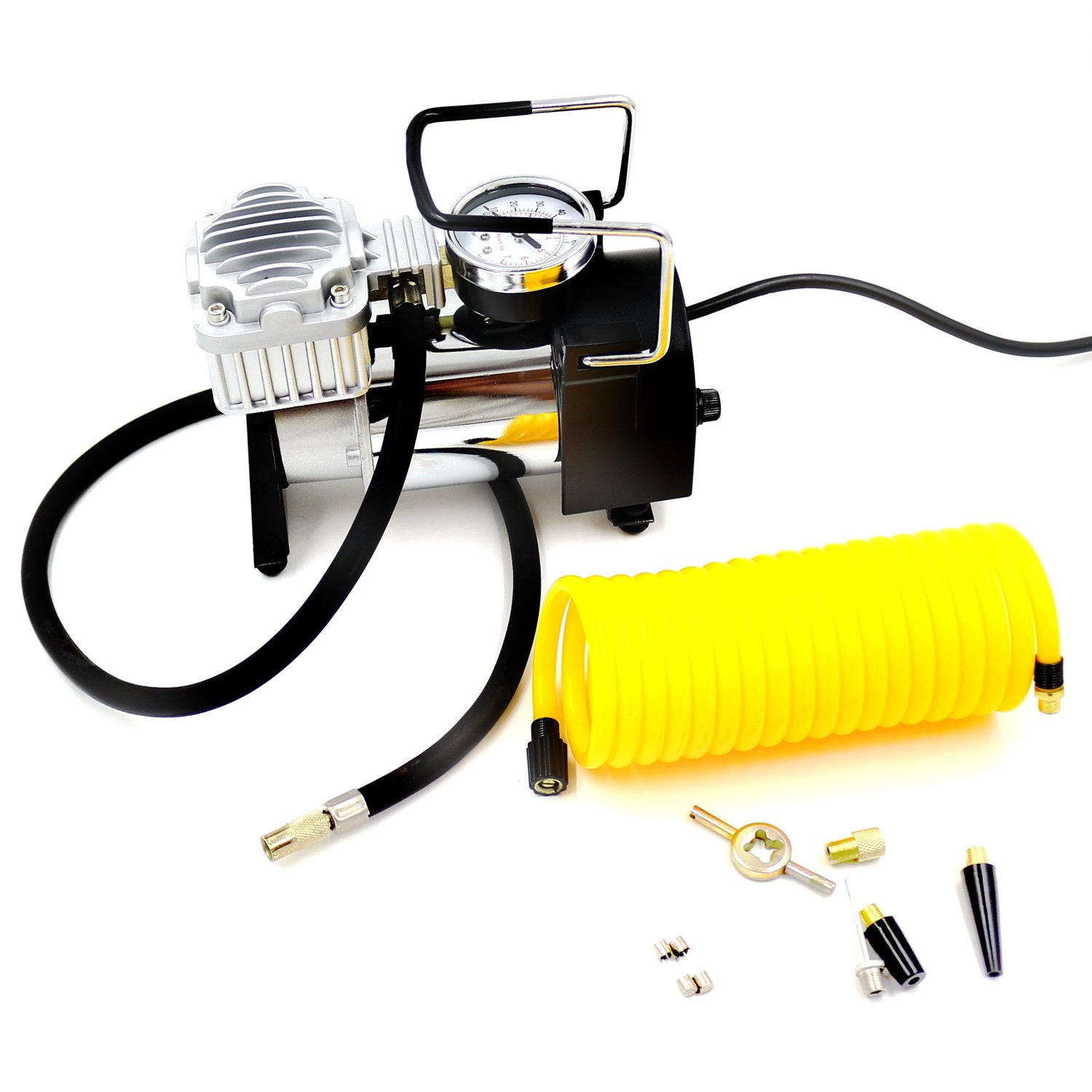 Mains Power AC 110V 100PSI Car Tire Tyre Airbed Balloon Multi-functional Heavy Duty Portable Electric Air Compressors Inflator Hi Pressure Air Pump