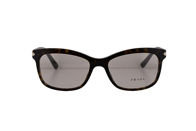 3418f9b725b Prada PR10RV Eyeglasses 53-17-140 Havana 2AU1O1 VPR10R For Women ...