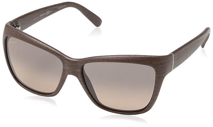 Amazon.com: Gucci anteojos de sol para mujer, café de madera ...