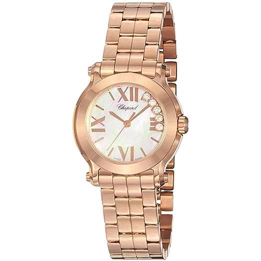 Chopard Reloj de Mujer Cuarzo Suizo 30mm Correa de Oro Rosado 274189-5003: Amazon.es: Relojes