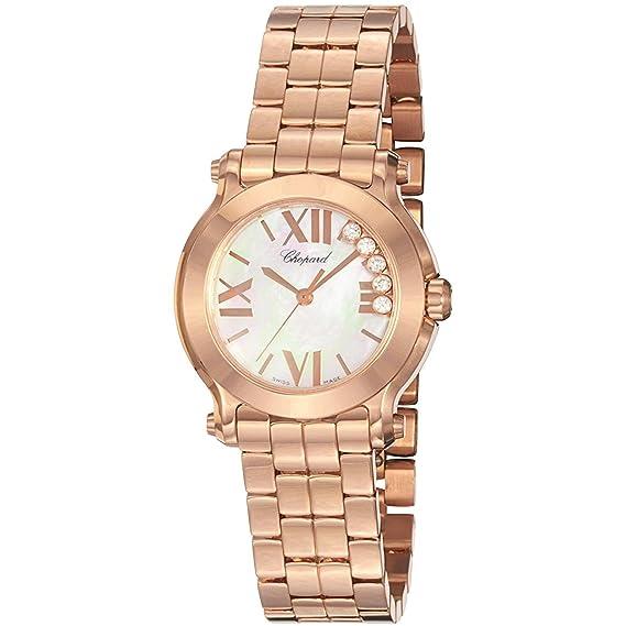 Chopard Reloj de Mujer Cuarzo Suizo 30mm Correa de Oro Rosado 274189-5003