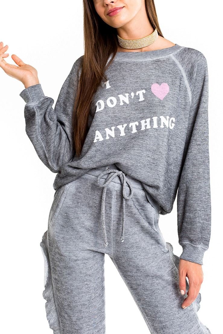 Wildfox Women's No Love Sommers Sweater - Heather - XS