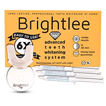 Amazon Com Brightlee Teeth Whitening Kit With Led Light For Tooth Whitening Long Lasting For 6 Shades Whiter In