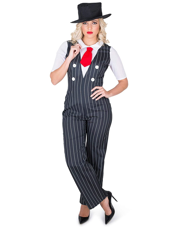 Karnival 81227 1920 Gangster - Disfraz para mujer, talla S, color ...