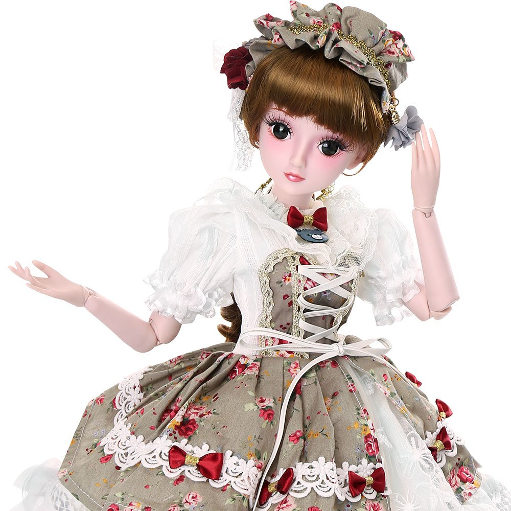 Funnybuy Girl Gift Doll 1/3 Dolls 23.6 inch 19 Joint Ball Jointed Dolls Full Set sam-store