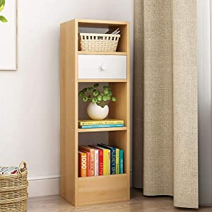 XM&LZ Wood Free Standing Bookcase, 5-Animal Display Shelf Large Capacity Storage Shelf Modern Decor Furniture for Living Room Home Office-Brown A 30x25x90cm(12x10x35inch)
