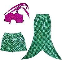 L-Peach 3pcs Bañador de Niñas Costume Traje de Baño de Princesa Swimwear Bikini 2-10 años