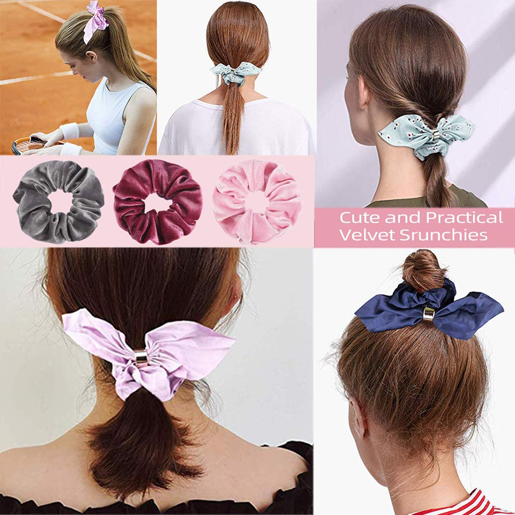 Women Girl Ponytail Scrunchie Pure Silk Coral Red Healty Hair Elastic NEW