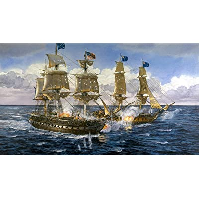Wooden Jigsaw Puzzle 1500 PCS Sea Battleship Battle Large Size 1500 Pieces of Wooden Puzzle,Unique Home Decorations and Gifts: Toys & Games