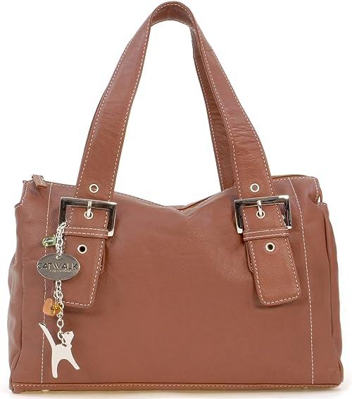 Catwalk Collection Handbags Leder UmhängetascheLedertascheSchultertasche JANE