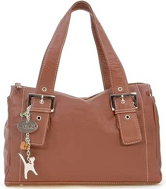 Catwalk Collection Handbags - Women's Soft Leather Top Handle/Slouchy Shoulder Bag - JANE