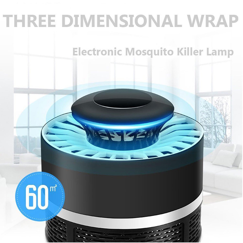Anti Mosquito Black TDW L/ámpara Led Atrapa Mosquitos USB Mata Mosquitos Electrico