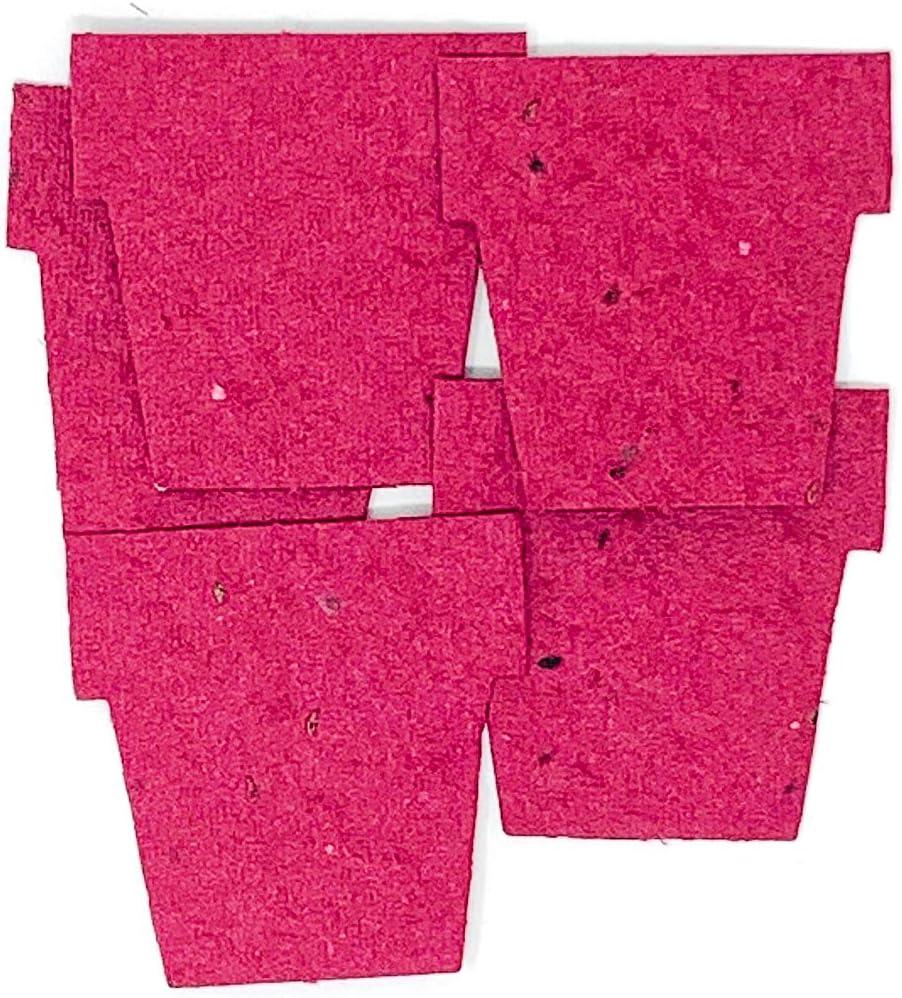 Roamwild Forme di carta seminata Confezione da 100 forme di Carta seminabile Borgogna Pot