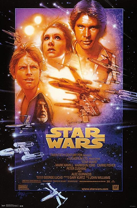 Amazon.com: STAR WARS IV MOVIE POSTER - Episode 4 - NEW: Prints ...